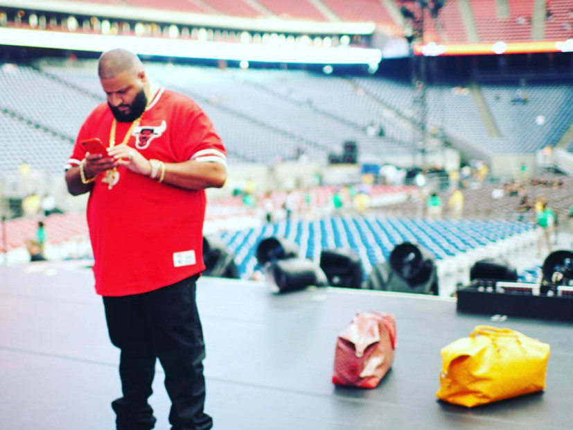 DJ Khaled Falls On Stage While Trying To Film Usher