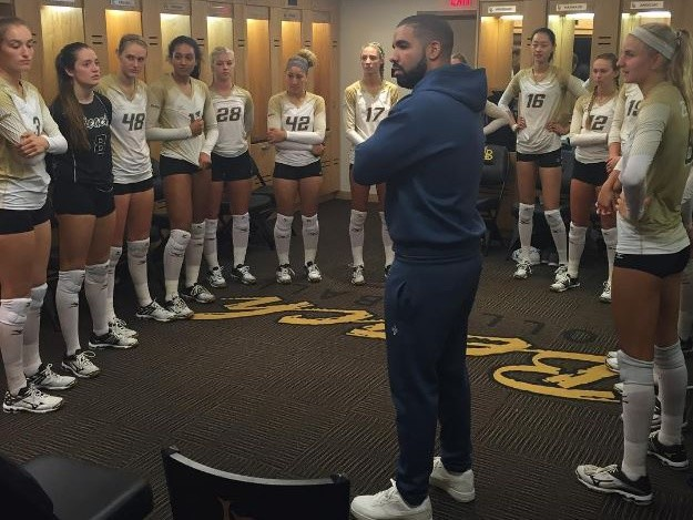 Drake Cheers On His Goddaughter At Volleyball Game