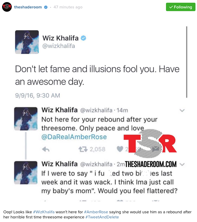 amber rose threesome the shade room