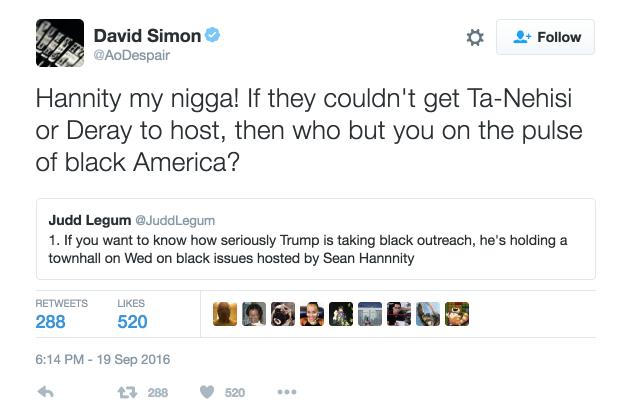 david simon my nigga tweet