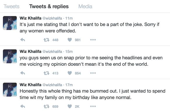 wiz khalifa amber rose threesome tweets