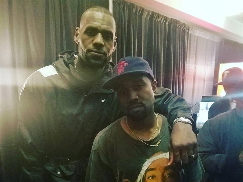 LeBron James Rocks The Mosh Pit At Kanye West Show