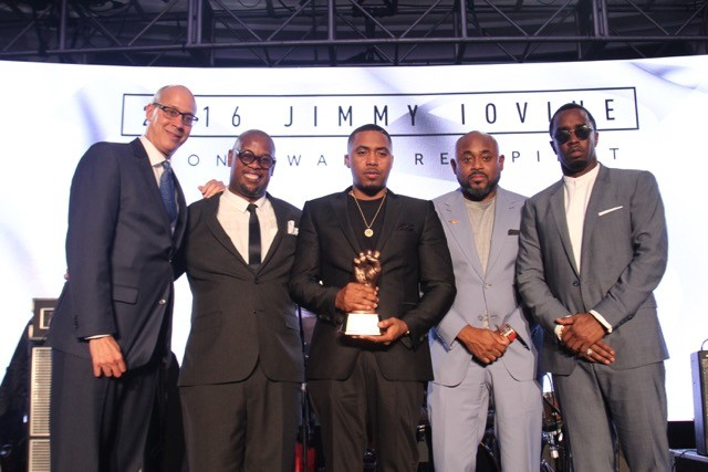 Diddy Presents Nas With Jimmy Iovine Icon Award At 2016 REVOLT Music Conference