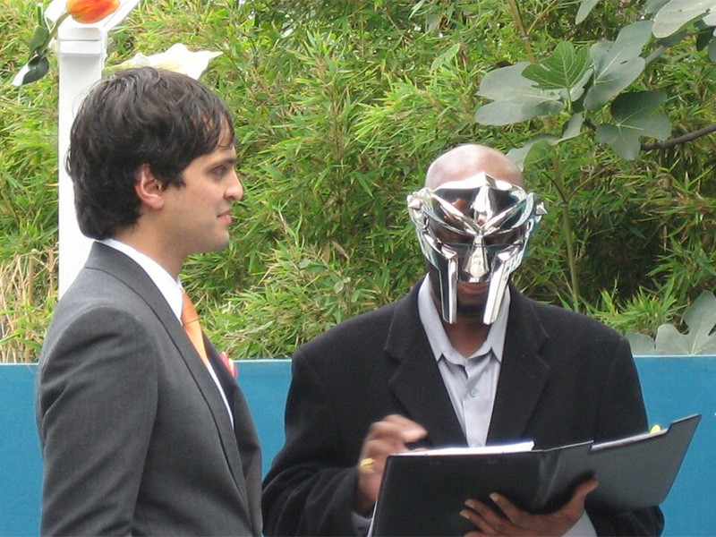 So Those Photos Of MF DOOM Officiating A Wedding Aren't What You Thought They Were