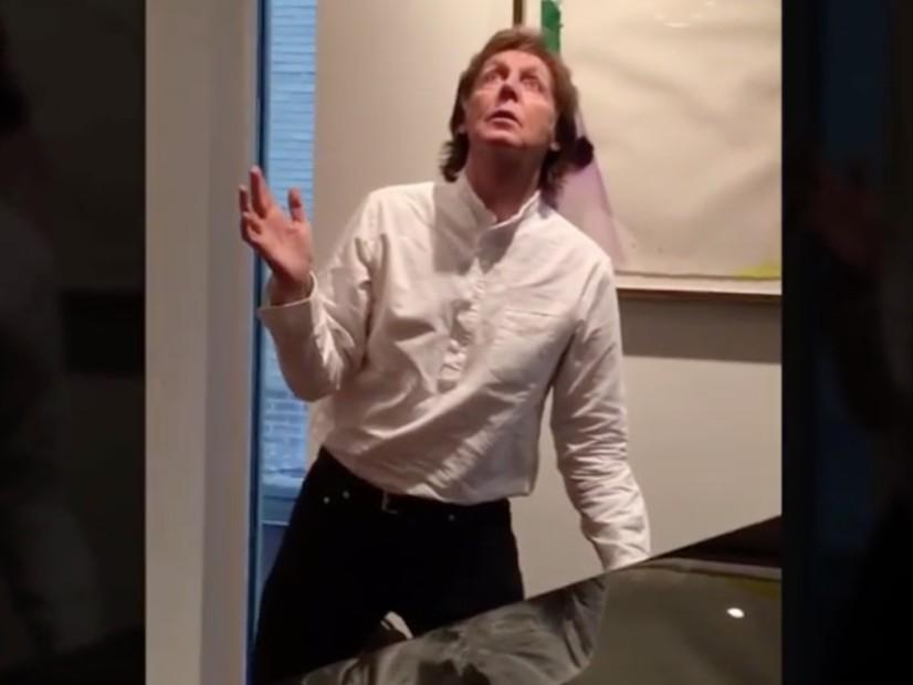 "Tweets Is Watching: Paul McCartney Does #MannequinChallenge To ""Black Beatles"""