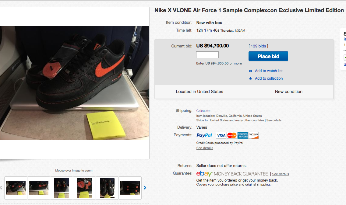 A AP Bari s VLONE Nike Air Force 1s Selling For Almost  100 5435f10399