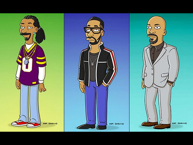 """Snoop Dogg, RZA & Common Get Cartoonified For """"The Simpsons"""" Special"""
