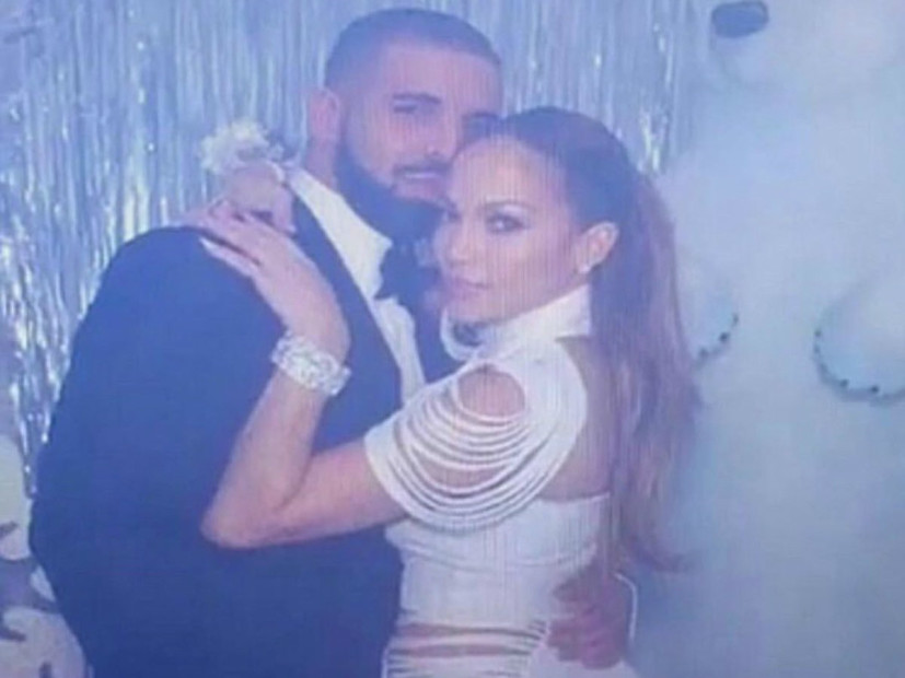 Drake & J-Lo Share Kiss While Previewing New Music At Winter Wonderland Prom