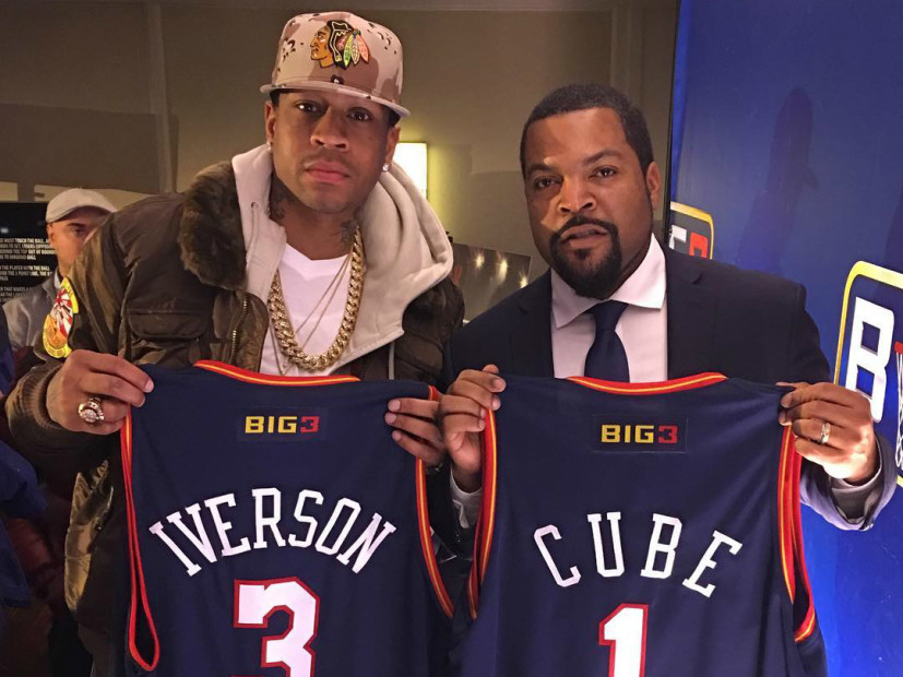 Allen Iverson Answers Ice Cube's Call To Join BIG3 Basketball League As Player/Coach