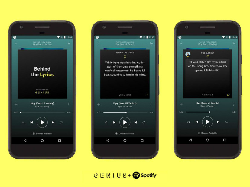 "Spotify & Genius Bring Popular ""Behind The Lyrics"" Feature To Android"