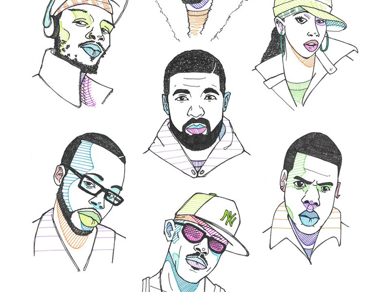Toronto Artist Chris Okeefe Drawing A Rapper A Day For A Year
