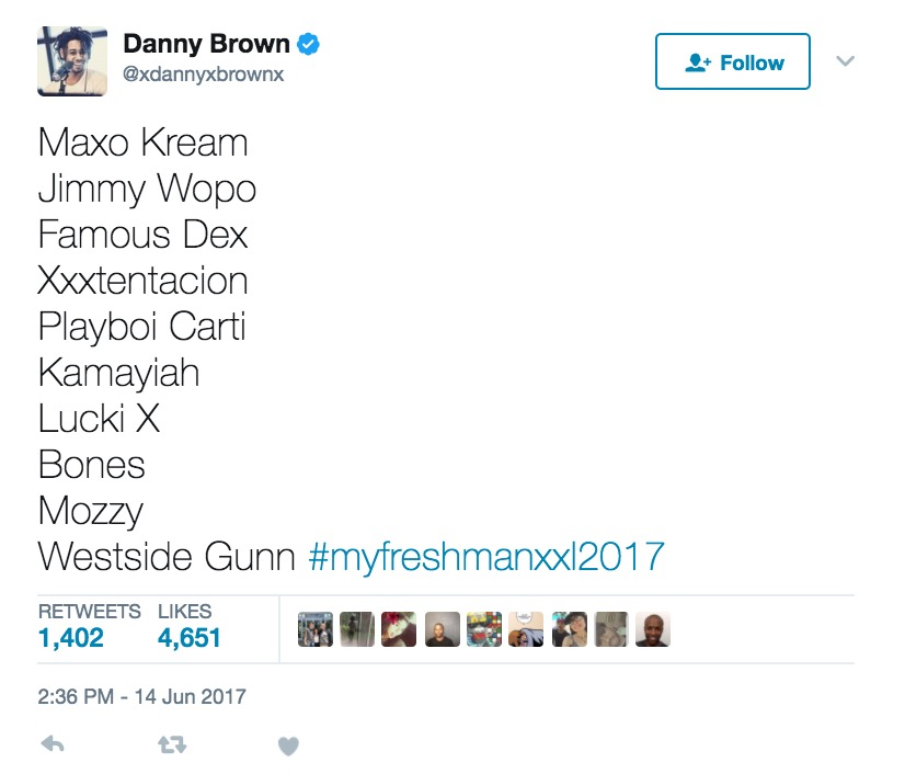 Danny Brown XXL list