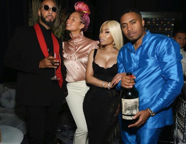 Nas Cozied Up With Nicki Minaj During 44th Birthday Celebration