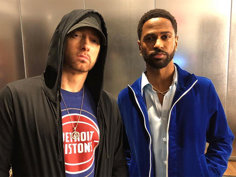 Instagram Flexin': Eminem & Big Sean Attend Detroit Pistons game