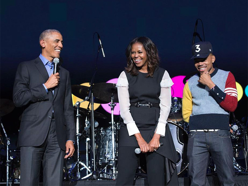 Chance The Rapper & Nas Perform At Obama Foundation Summit