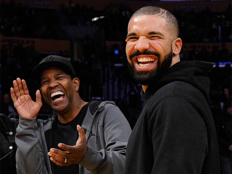 Denzel Washington Has 1 Question About Drake's Tattoo Of Him