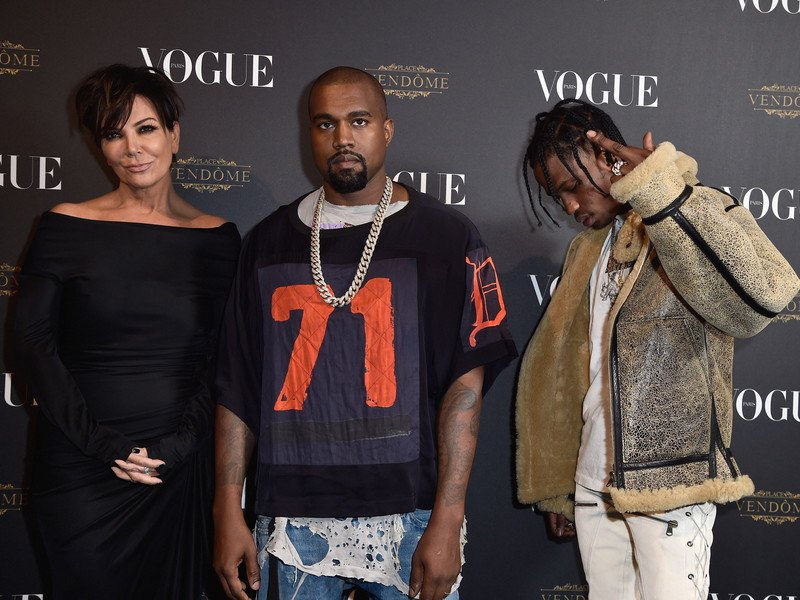 Kylie Jenner Shoots Down Report Her Mom Is Guiding Kanye West & Travis Scott's Careers