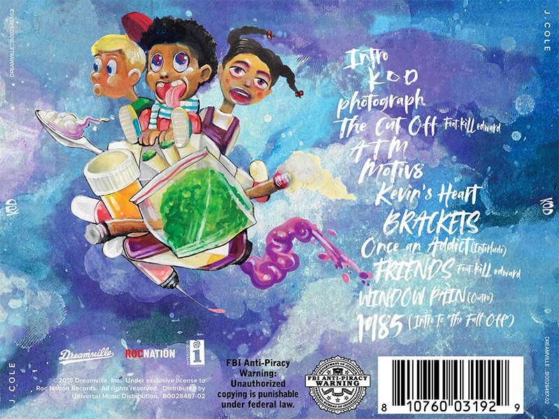 J Cole KOD back cover