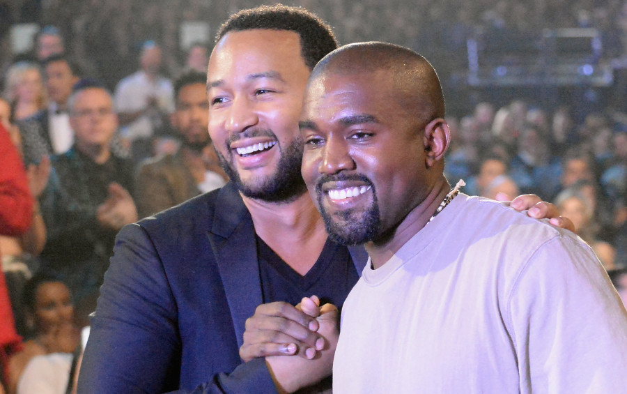 Kanye West Shares John Legend Texts Concerned About Trump Support
