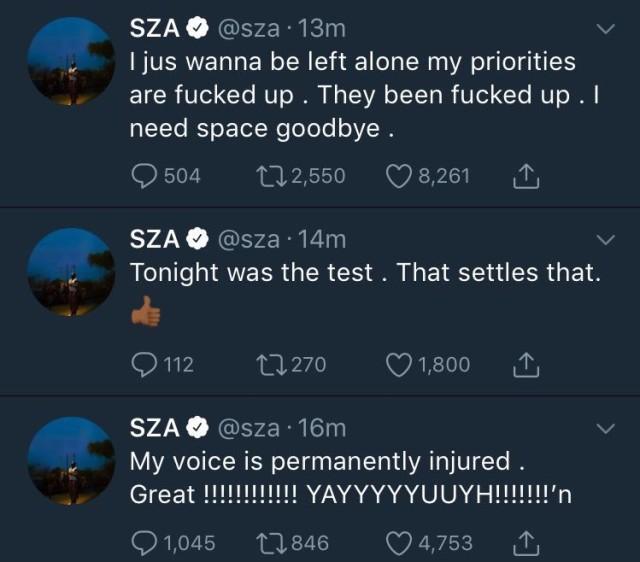 SZA Voice Tweets