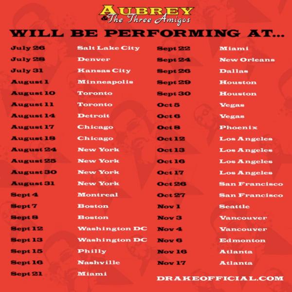 aubrey the three amigos tour 2
