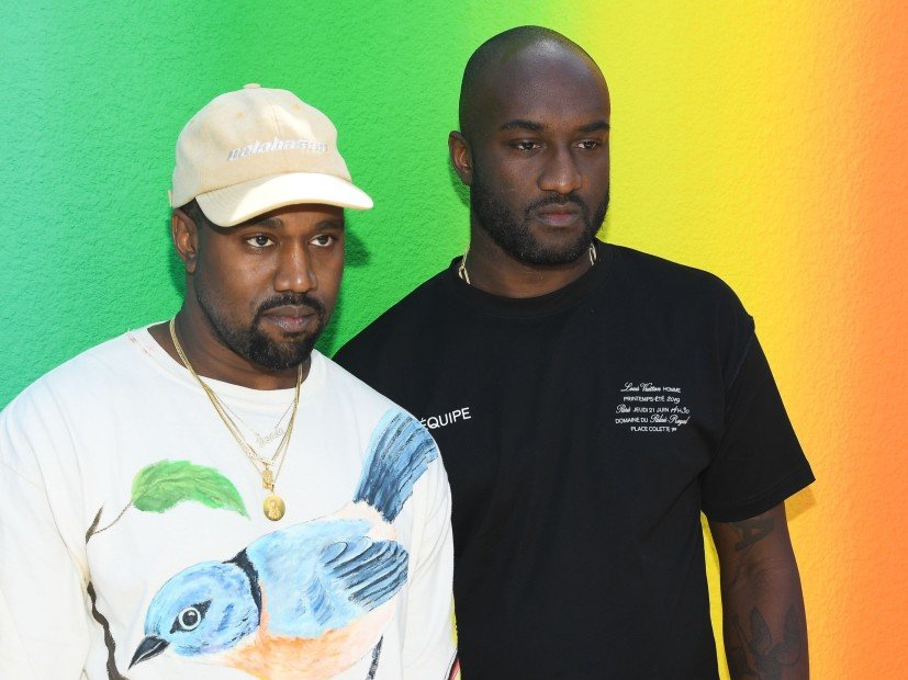 Kanye West & Virgil Abloh Share Emotional Moment At Louis Vuitton Show