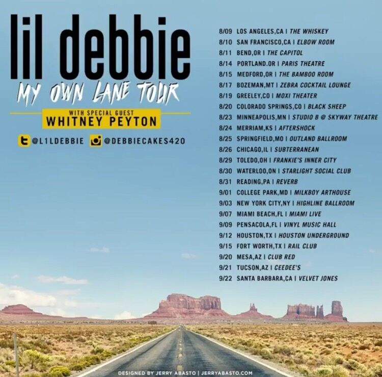 lil debbie whitney peyton my own lane tour