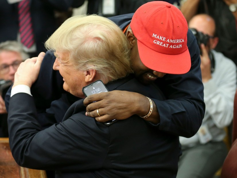 Kanye West's Donald Trump White House Meeting Peppered With Hugs & Rambling