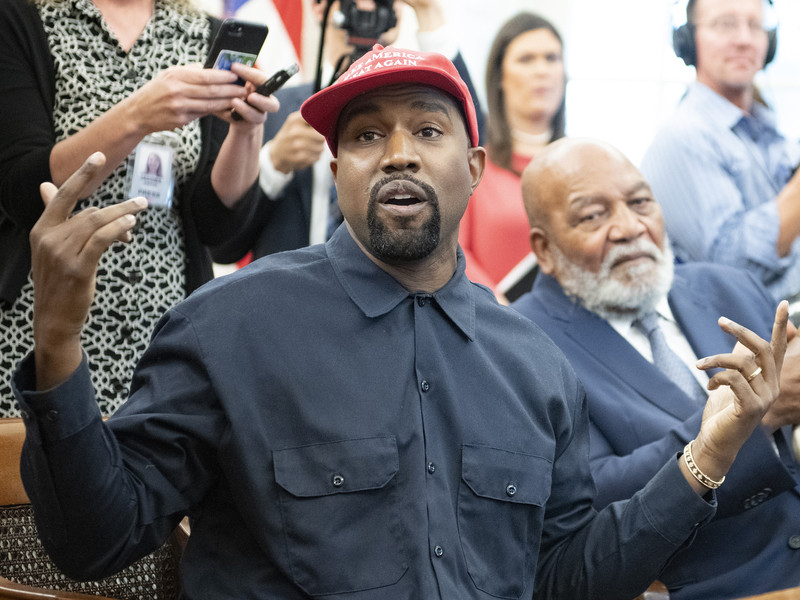 "Kanye West Designs ""Blexit"" Merch For Candace Owens' Campaign"