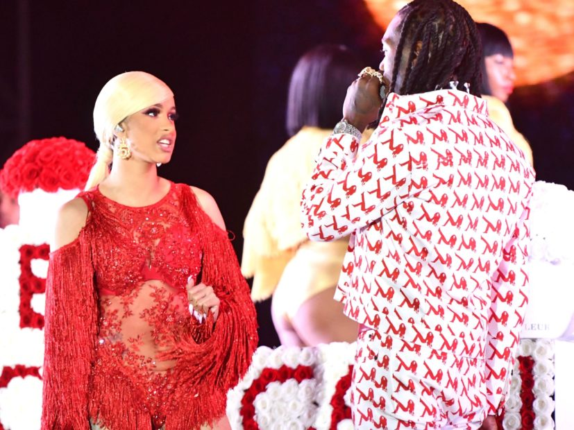 Cardi B Rushes To Offset's Defense Following Rolling Loud Stunt