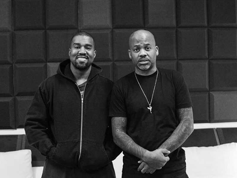 Kanye West Links With Dame Dash For A L.A. Freestyle Session