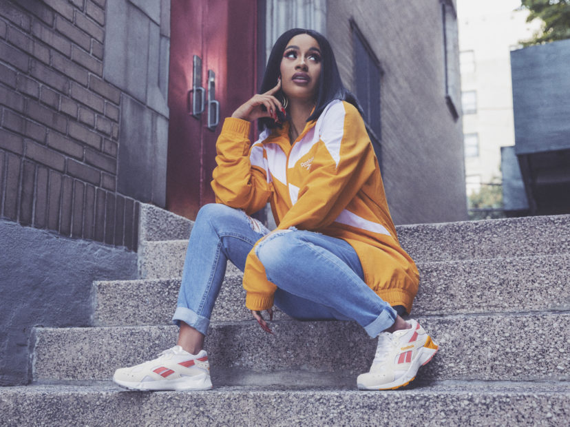 2f22488162da2b Cardi B Takes On The Iconic 90s In New Reebok Campaign