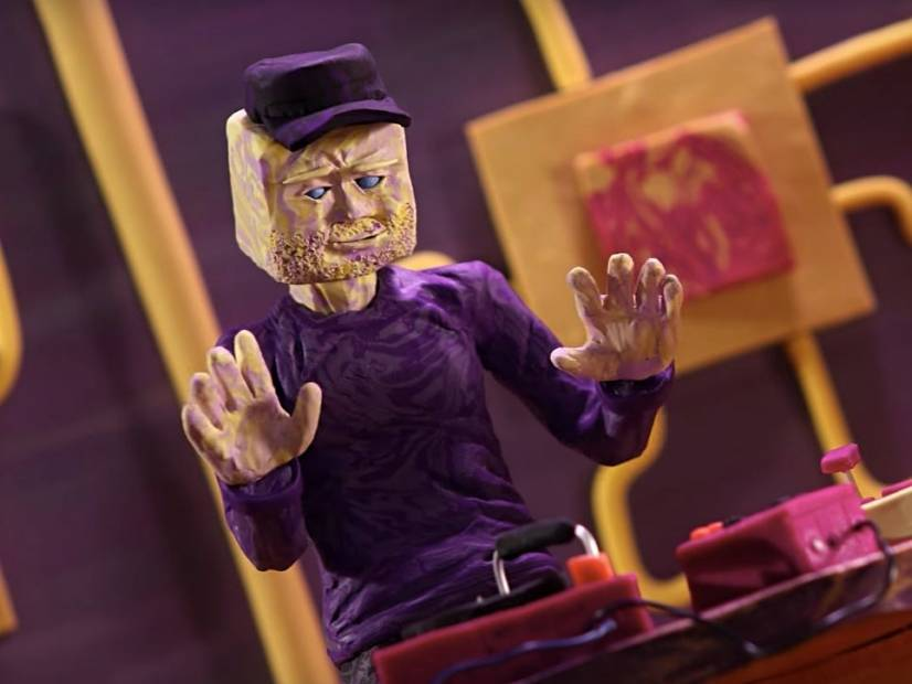 """#DXCLUSIVE: Blockhead Killed By 2 Laser Armed Aliens In the """"Slippery Slope"""" Claymation Video"""