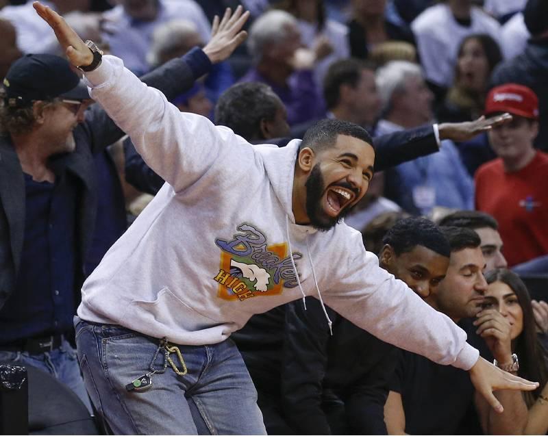 Drake Led Arena-Wide Trolling During Toronto Raptors' Blowout Against Philadelphia 76ers