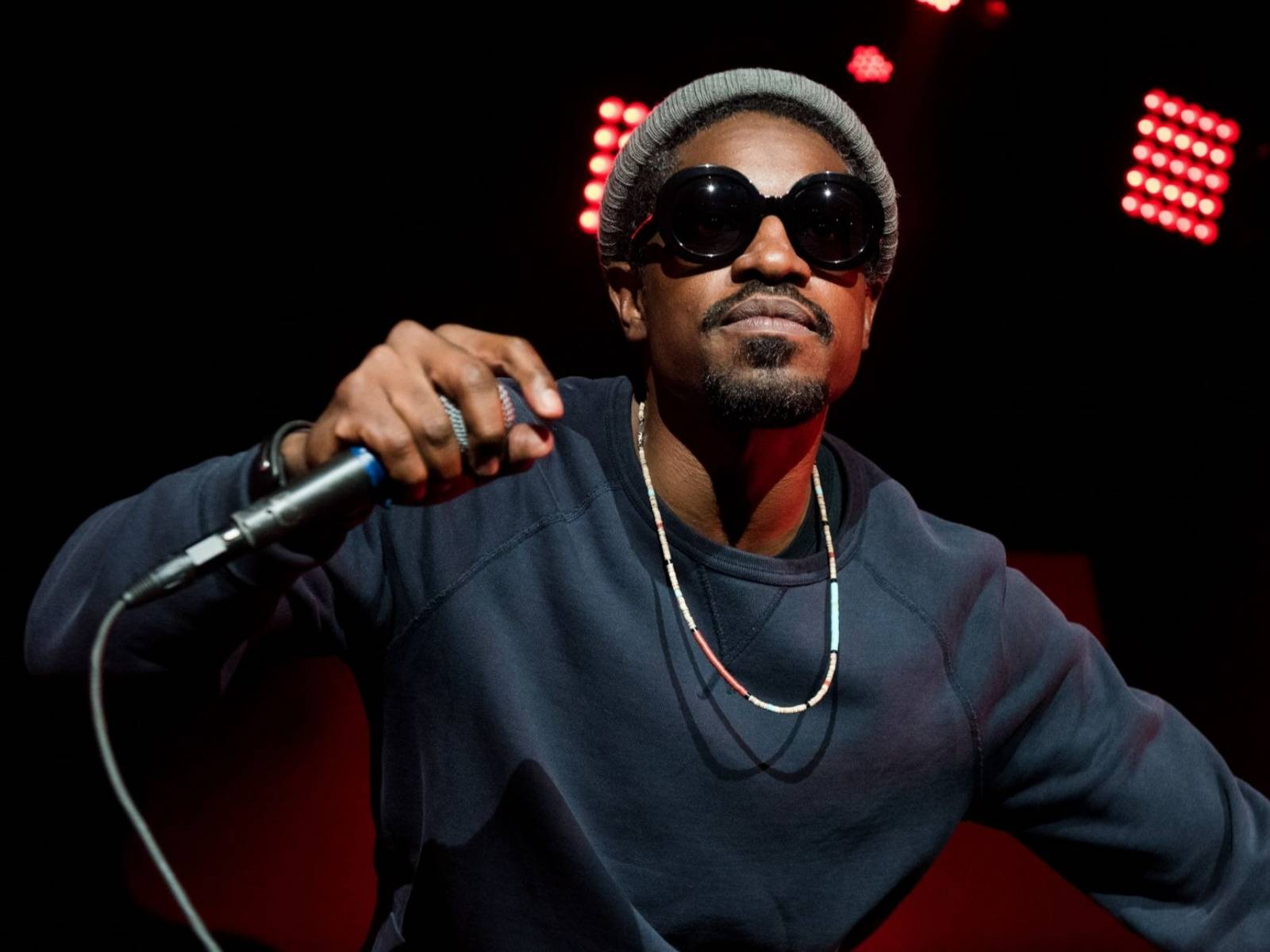 André 3000 Captured Wandering Around Airport Playing A Flute