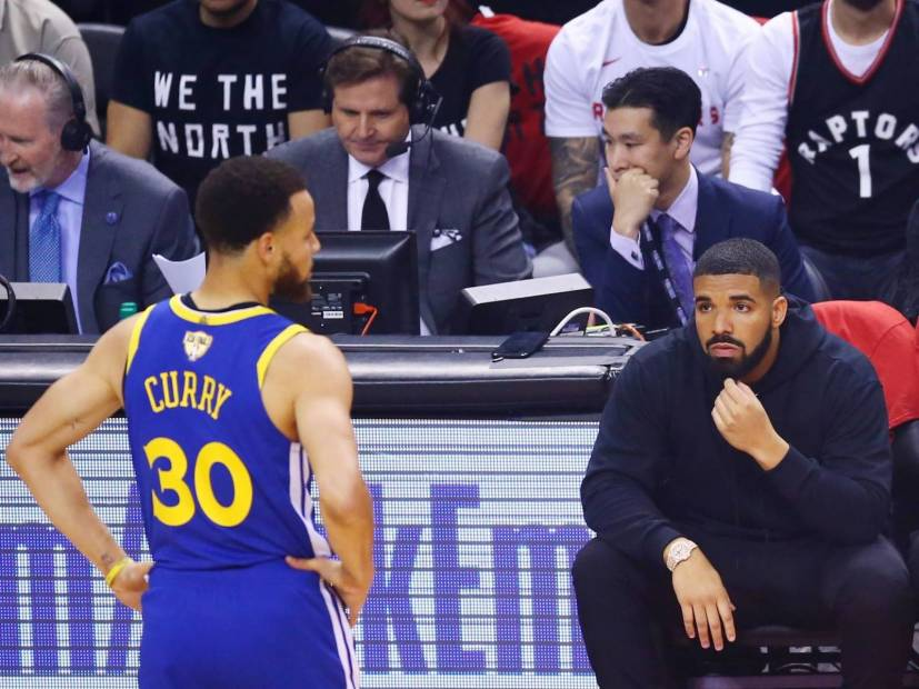Drake & Stephen Curry FaceTimed Después De Los Raptors De Toronto Vencer A Golden State Warriors