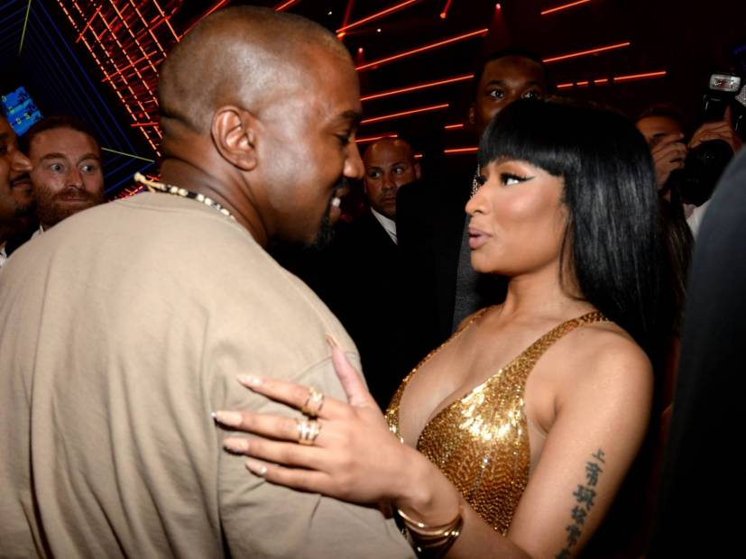 "Kanye West Told Nicki Minaj He's A ""Born-Again Christian"" Now"