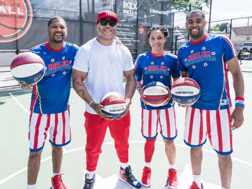 LL Cool J Hosts 15th Annual Jump & Ball Community of Camp With the Assistance Of the Harlem Globetrotters
