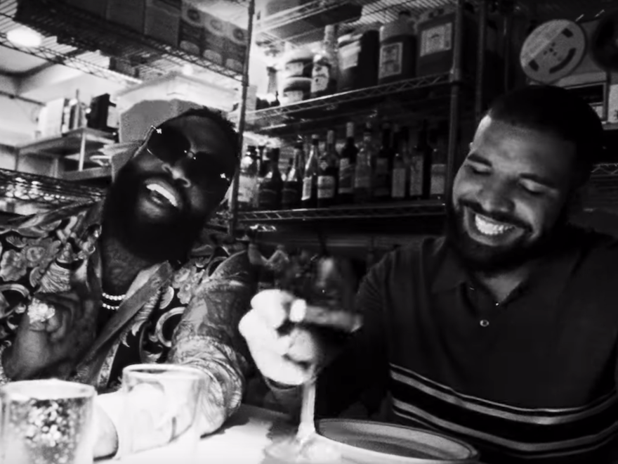"""Drake & Rick Ross-Bury The Evidence In """"The Money In The Grave"""" Video"""