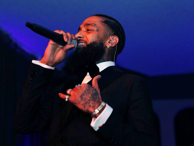 Atlantic Records Makes 6-Figure Donation To Nipsey Hustle And Bustle Of The Foundation