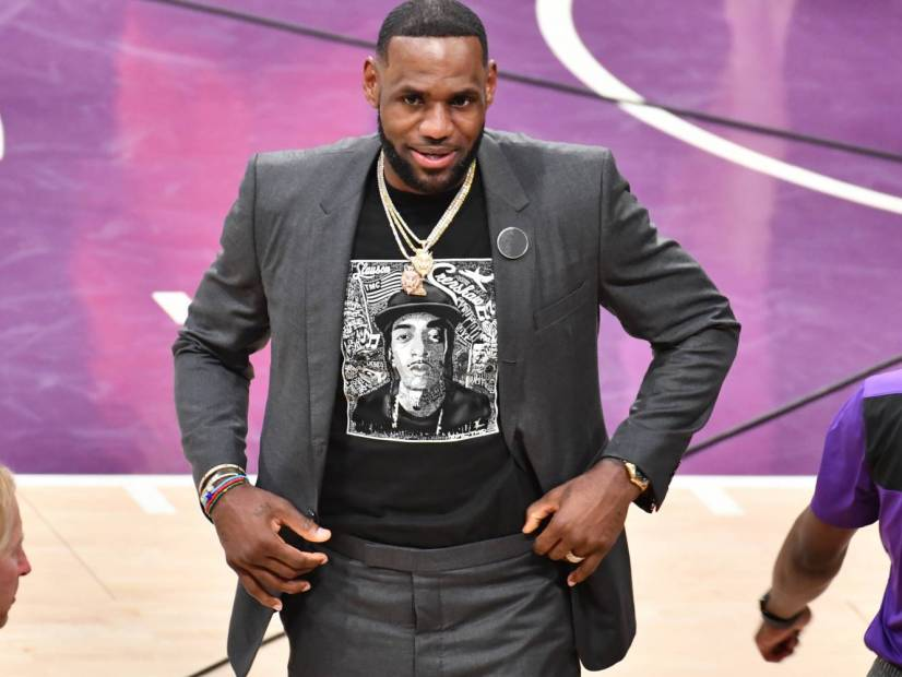 LeBron James Honors Nipsey Hussle With Custom Jersey