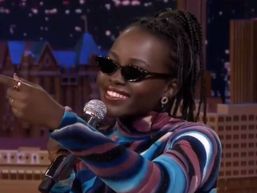 "Lupita Nyong or Kicks A Freestyle On ""Jimmy Fallon"""
