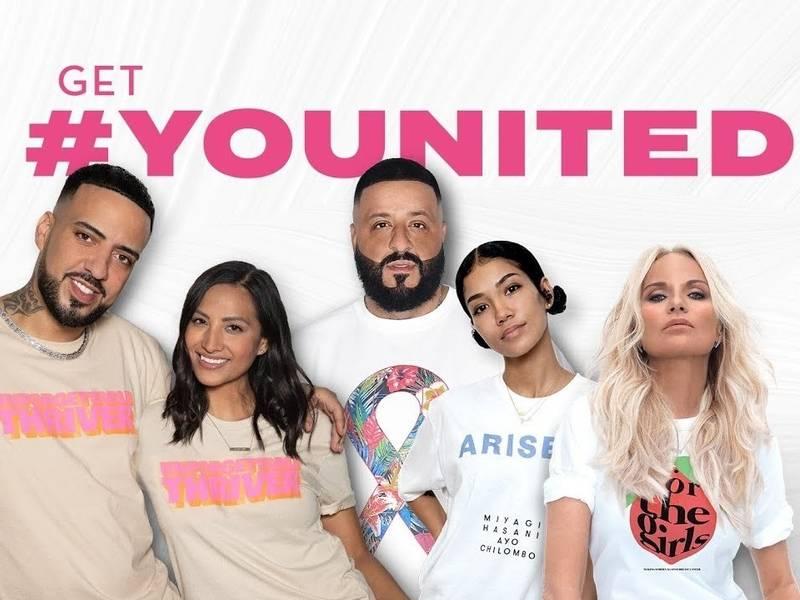 DJ Khaled, French Montana & Jhené Aiko Estrella En la Sociedad Americana del Cáncer de la Campaña