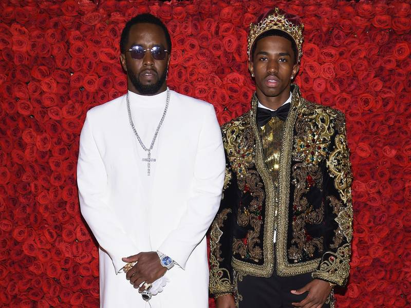 King Combs Gives Diddy Portrait Made Of 100,000 Diamond Stones For 50th Birthday
