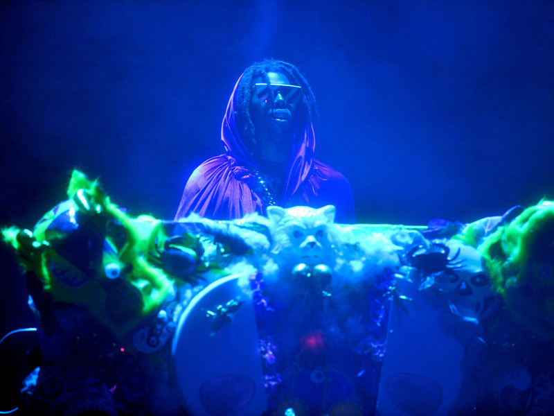 Flying Lotus Trolls Adult Swim Festival Crowd With DOOM Impostor Hannibal Buress