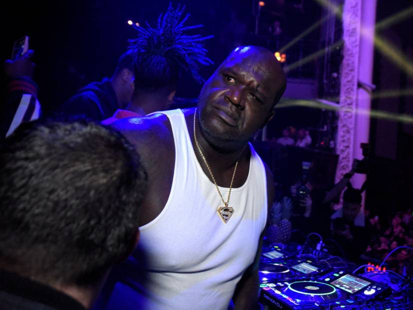 Shaq Makes A Beat On Trizzy Track's MPC