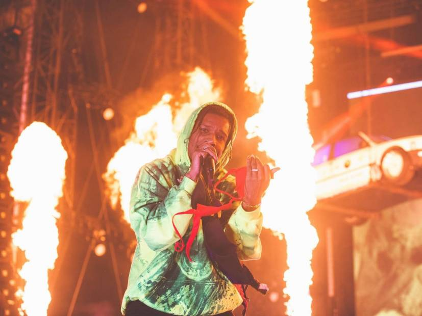 A$AP Rocky Gets Disgusted Over Boxers Being Thrown On His Rolling Loud Stage