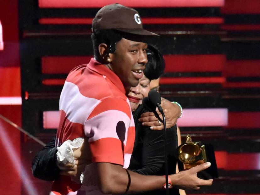 Tyler, The Creator Accepts Best Rap Album Grammy For 'IGOR', Next to His Tearful Mother