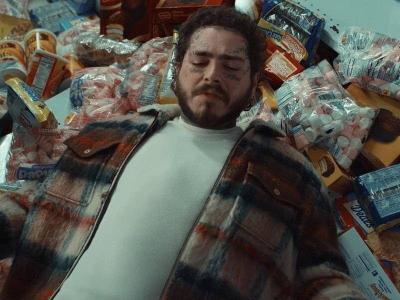 Image result for post malone bud super bowl 2020""