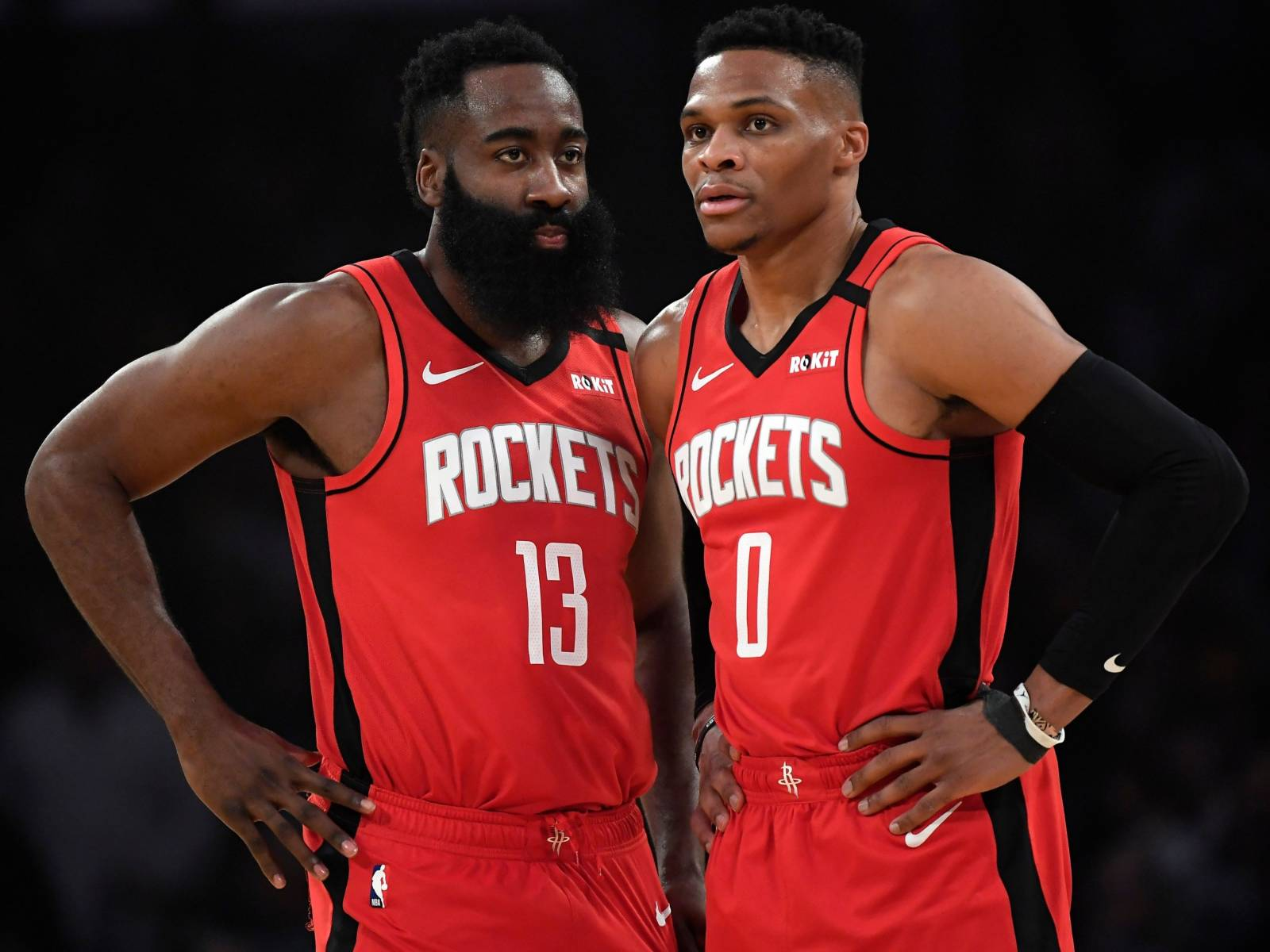 Russell Westbrook & James Harden Recreate Outkast's Iconic 'Stankonia' Photo Shoot For GQ